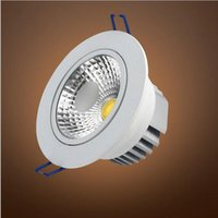 Wholesale 30pcs Silver White Face W W W W W W AC85 V Dimmable LED COB Spot Recessed Downlight with AC110V AC220V