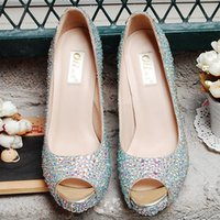Cheap wedding shoes Best handmade crystal shoes