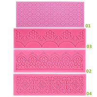 fondant flowers - New Arrivals Fondant Cake Tools Lace Sugar Craft Flower Decorating Mold Silicone Patterns JA4