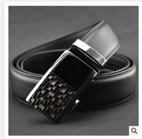 fashion belt - 92colors mix design HOT Fashion belt MEN S Genuine Leather Waist Strap Belts Automatic Buckle Black C1387