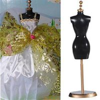 Wholesale 2014 New Display Holder For Toy Doll Dress Clothes Gown Mini Stand Mannequin Model