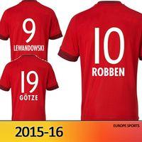 Soccer soccer uniforms - Whosales Bayern Munichser Soccer Jerseys Jersey Football Jersey Uniforms Sportwear Discount Gotze Free Shippinng ROBBEN Muller