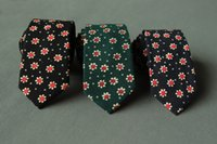 Wholesale Top Grade Cotton Printed Mens Tie Neckties Prom Wedding Party Business Neck Ties for men Style Hot Selling W942