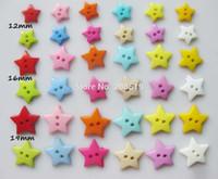 Cheap NB0017 Scrapbook sewing button 200pcs lot Mixed children Buttons 12mm-16mm-19mm Star shape Decoration Plastic botones