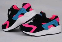 Wholesale 2016 Air Huaraches Triple Jogging Shoes For Men Lightweight Breathable White And Black Cheap Great Sports Sneaker Eur