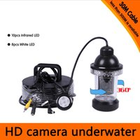 Wholesale 30Meters Depth Degree Rotative Underwater Camera with of White or IR LED for Fish Finder Diving Camera Application