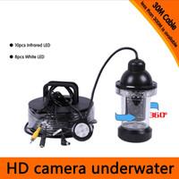 Precio de Camera underwater-30Meters Profundidad Cámara subacuática Rotative de 360 grados con 18pcs del blanco o del IR LED para la búsqueda de los pescados que bucea la aplicación de la cámara