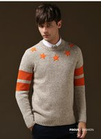 Wholesale Fashion Men Tommy Hilfige Famous Knitted Sweaters Crew Neck Designer Long Sleeve Pullover Men s Clothing Slim Fit Brand Winter Sweater O2023