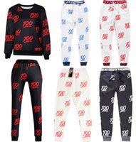 Emojis roupas Preços-High Quality 100 Emoji Joggers para Homens e Mulheres 100 Joggers Set Moda Casual Emoji Print Outfit Moletons e Calças