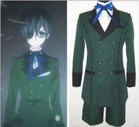 achat en gros de halloween costume usure-Anime Black Butler kuroshitsuji Ciel Costume Cosplay Phantomhive emboitement