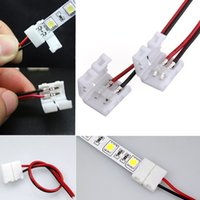 Wholesale High Quality x Wire with Pin Connector Adapter at end for mm Single Color LED Strip Light Solderless order lt no track