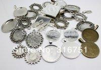 aa settings - 20pcs Mixed Pattern Cameo Frame Settings Pendants Alloy Pendant Jewelry Findings mm mm w02323 Aa
