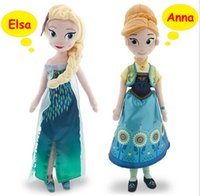Wholesale New Cinderella Movie Fever Elsa and Anna Princess Plush Toys cm and cm Plush Dolls