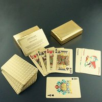 Wholesale 2015 New Fashion Hot Sale Exquisite Gift Gambling Entertainment Gold Foil Poker Card Plaid Style Playing Cards