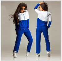 auto race tracks - 2016 Spring New Fashion Women Sexy Women Sport Tops Sweatshirt Pants Track Sweat Suits Running Tracksuit Outfit Sportsuits Free ship