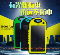 usb flashlight - 1pcs mAh Dual USB Solar Charger and Battery Solar Panel portable power bank for Cell phone Laptop Camera MP4 With Flashlight waterproof