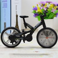 bicycle alarm clock - 2016 New Year Christmas gift Cool Fashion Home Decoration Creative Art Bike Shape Clock Children Kids Bicycle Alarm Clock H019