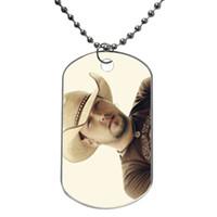 Wholesale Jason Aldean Cowboy Hat Customized Colorful Design Dog Tag Necklace Aluminum Tag for Animal Pets Tag