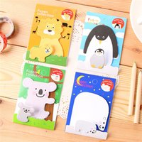 Wholesale 2015 cute sticky notes notebook stickers kawaii paper mini notepad animal shape stationery for kids children students adult christmas gift