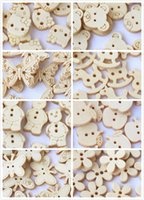 Wholesale 100pc wooden buttons craft sewing accessories Home decorative Kids Child Diy wooden buttons bulk wood button