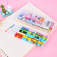 Wholesale 12set Color Gel pen Hello Kitty Cute bear Super Hero Roller ballpoint pens Stationery Canetas office school supplies Gift p014