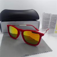 Wholesale Hot sales Brand Designer Fashion Women Men Plush Coating Sunglasses Outdoor Sport Retro Sun glasses With box and cases