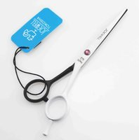 Wholesale Hair scissors cutting White and black surface for choose INCH Pink stone Simple packing NEW