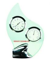 glass table clock - High grade glass table clock Home sitting room adornment Bedside alarm clock custom