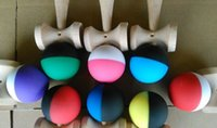 Wholesale 100piece cm Rubber paint Game ball skills with a sword ball sword flexible paint kendama ball