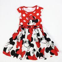 minnie mouse dress - Summer new minnie girl dress Cartoon mouse polka dots baby dress Red lovely girl dress