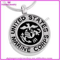 air force gifts - IJD8386 Department Of The Air Force United States of American Serious Badge Cremation Jewelry for Ash Pendant