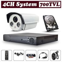 dvr security camera system - 700TVL CCTV Security System CH D1 DVR with quot SONY CCD TVL CCTV Camera Waterproof LEDS OSD Control