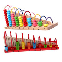Wholesale Kids Wooden Toys Child Abacus Counting Beads Maths Learning Educational Toy