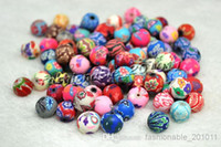 Wholesale 200pcs Rondelle Handmade Polymer Clay Fimo beads Fit Bracelet Necklace
