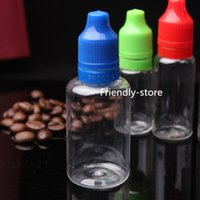 Wholesale 2015 eGO Hot ml Clear Dropper Bottle PET with Long Thin Tip Eye Dropper Bottle ml Childproof Bottle With Childproof Cap