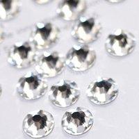 acrylic nail drill - 144pcs mm Acrylic Clear Diamond Confetti Wedding Party Table Scatters Decoration white rhinestone Flat drill nail stick