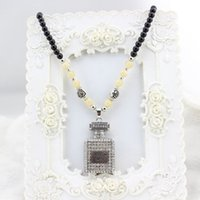 amethyst perfume - 2016 Special Offer Gift Fantasias High grade Crystal Beaded Necklace Retro Fashion Diamond Pendant Perfume Bottle Long Sweater Chain F184