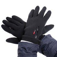 Black Windstopper simulé en cuir à l'épreuve du vent Soft Warm hiver gants de plein air M L XL H4982 EMS Livraison gratuite