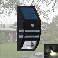 Wholesale Hot sale led solar light lamps outdoor waterproof PIR motion sensor wall lamp black color factory lighting