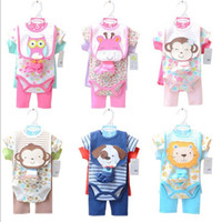 Wholesale 2015 New Arrival Hot Sale Fashion Baby One Piece Romper Baby Girls Cute Printing Cartoon Pattern Romper Boys Kids Colorful Cotton Romper