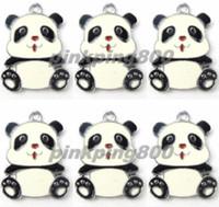 Bijoux de panda Prix-Nouveaux pendentifs de charme de panda Bijoux faisant des cadeaux de fête xtie290057