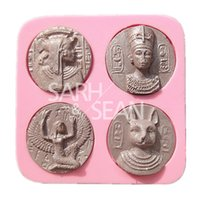ancient egyptian decorations - M0955 The Decorations of Ancient Egyptian Pharaoh Coppers Fondant Cake Molds Chocolate Molds for the Kitchen Baking Tools