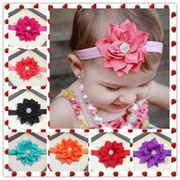 Wholesale Baby Girls Rhinestone Hair Accessories Styling Tools Headbands Wedding Accesories COLOR Elastic Hair Bands All For Children Clothing