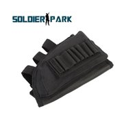 bait pouch - 2 Style Rifle Stock Pouch Nylon Durable Ammo Pad with Cheek Leather Rifle Shotgun Holsters Tactical Arsoft Hunting Accrssory order lt no tr