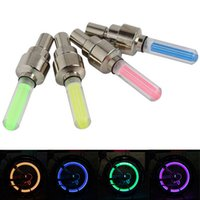 led car wheel lights - New LED flash tire bicycle wheel cover light automobile bicycle light motorcycle wheel the yellow light LED car light blue green and red b
