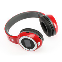 Wholesale Wireless Folding Stereo Headphone Sport MP3 Player Headphones with FM Radio Support TF Card Slot LED Red Black White