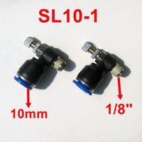 Wholesale 10pcs Pneumatic Air Fitting Throttle valve Air Speed Control Valve SL10 Tube mm