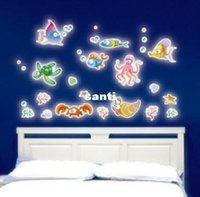glow in the dark stars - New Arrive Fluorescent Luminous Wall Stickers Glow in the Dark Stars Home Decoration Eco friendly PVC Cartoon Wall Decal for Kids Rooms