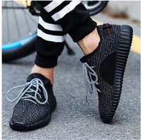Cheap 2016 New Arrvial Yeezy Boost 350 Pirate Black Low Sport Running Shoes Women and Men Footwear Shoes Training Boots Free Drop Shipping