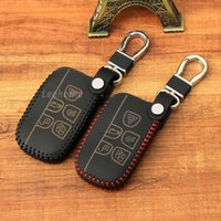 Wholesale Leather Car Key keychain Cover for Jaguar Land Rove rang rover Remote Key Case Fob fit Freelander evoque discovery
